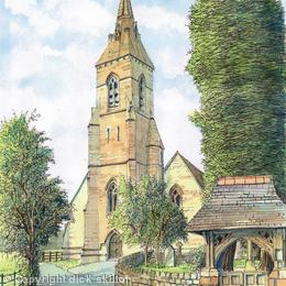 Hagley Church St Johns Nr Hagley Hall Worcestershire greeting card