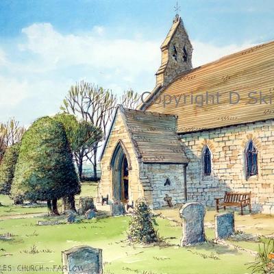 Farlow St Giles Shropshire as a greeting card