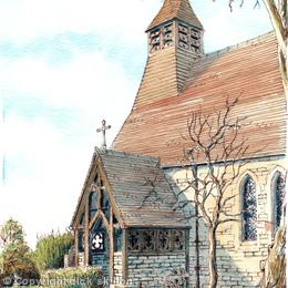 Tibberton Church Nr Worcester, greeting card