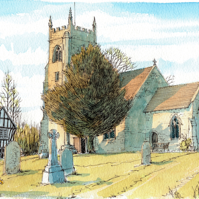 Highley Church St Mary's Shropshire, greeting card
