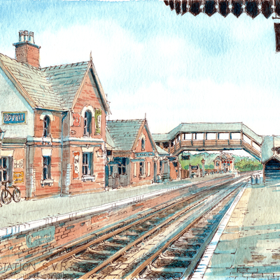 Bewdley Station S.V.R. Severn Valley Railway greeting card