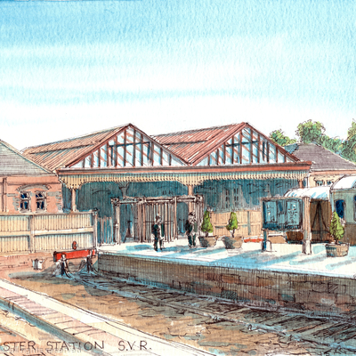 Kidderminster Station S.V.R. Severn Valley railway Worcestershire greeting card