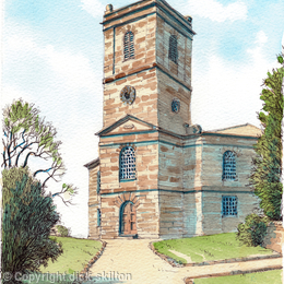 Madeley Church St Michael's greeting card