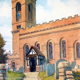 Wolverley Church St John The Baptist Nr. Kidderminster, greeting card