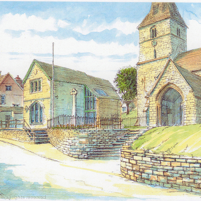 Cleobury Mortimer St Marys  the Parish Rooms as a greeting card.