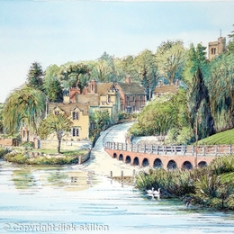 Arley  The river Severn ( where the ferry was) greeting card