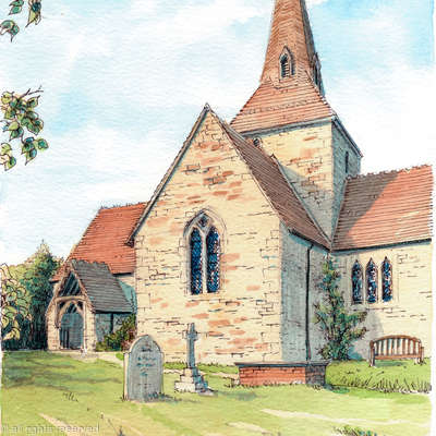All Saints Neen Sollars Nr Cleobury Mortimer Shropshire as a greeting card