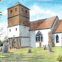 Cotheridge St Leonard Nr Worcester Worsectershire greeting card