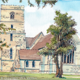 Droitwich Spa St Augustines Worcestershire, greeting card