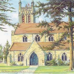 Bromsgrove All Saints church Worcestershire greeting card