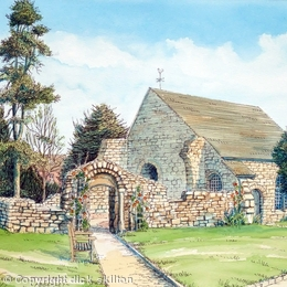 Abberley Norman Church Worcestershire greeting card