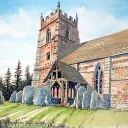 Martley St Peters Worcestershire greeting card