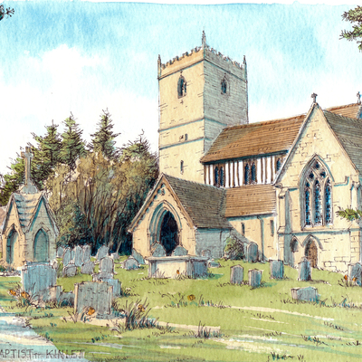 Kinlet Church St John The Baptist, greeting card