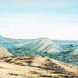The Stretton Hills (turquoise image) Shropshire