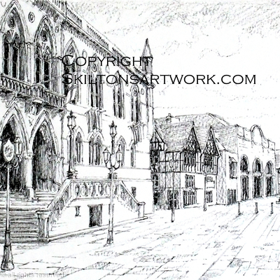 Chester Town hall greeting card