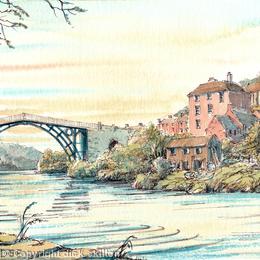Ironbridge Sunset greeting card