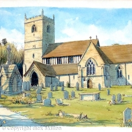 kinlet Shropshirechurch St John The Baptist with no tree greeting card