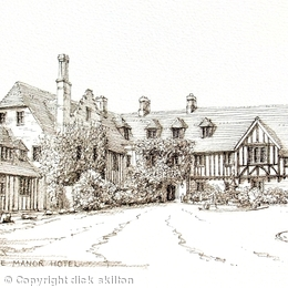 Stone Manor Hotel near Kidderminster Worcestershire greeting card