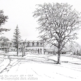 Macdonald Hill Valley Spa & Golf Hotel Whitchurch Shropshire greeting card