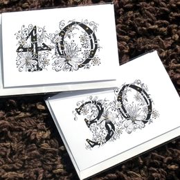 Number cards any number can be ordered with names and, or happy birthday below image