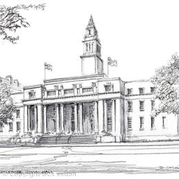 Marylebone Town Hall greeting card