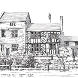Albright Hussey Manor Hotel Shrewsbury greeting card