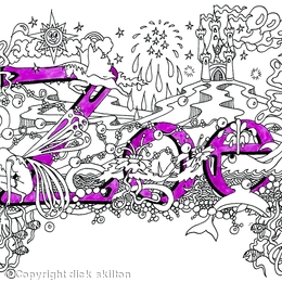 Zoe name card with purple envelope