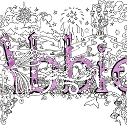 Abbie childrens name art card 6