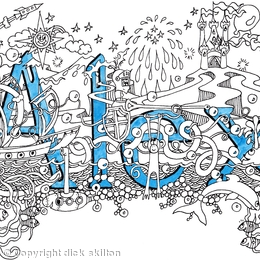 Alex name art card with blue envelope