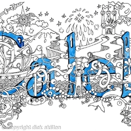 Caleb boys name art card with blue envelope