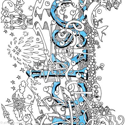 Jackson name art greeting card with blue envelope