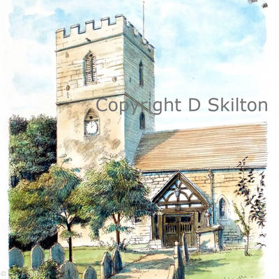 Cardington St James Nr Church Stretton greeting card or thank you card or invitation etc.. Prints and postcards available on request.