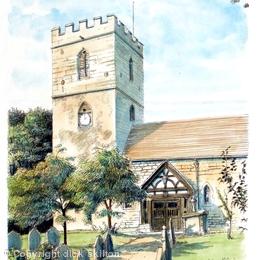 Cardington St James Nr Church Stretton greeting card