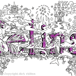 Selina purple merged greeting card