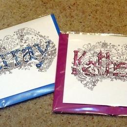 Katherine & Murray name cards