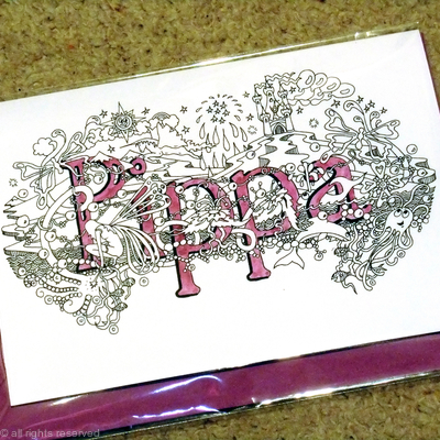 Pippa name art card