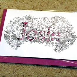 Josie greeting name art card
