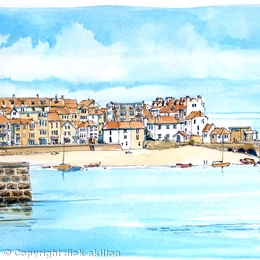 St Ives Cornwall greeting card