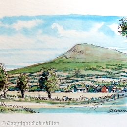 Clee hill from Ludlow rd ACEO Original
