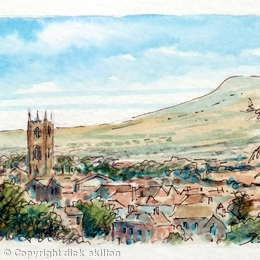 Ludlow ACEO Original miniature, 2.5 in by 3.5 in