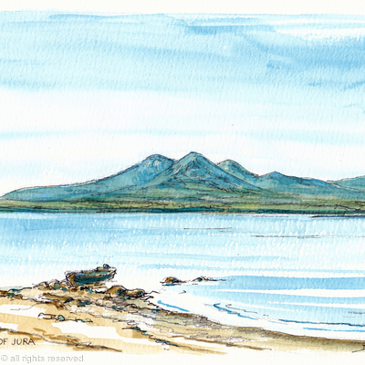 Jura, the paps printed on greeting card
