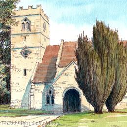 stottesdon church greeting card