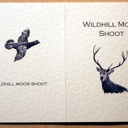Stag and grouse possible shoot card outside