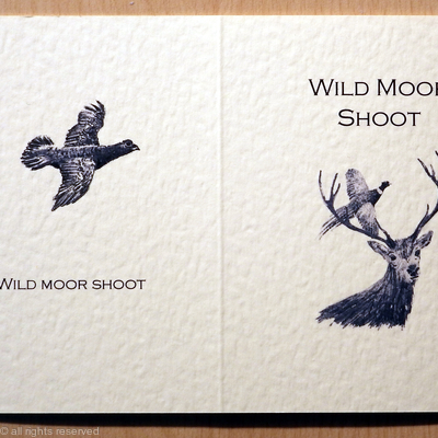 Shoot card with stag, pheasant and grouse possible shoot card