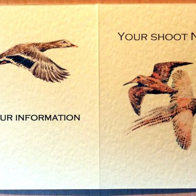 crossed woodcock and pheasant shoot card front