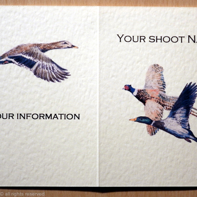 duck and pheasant images on shoot card