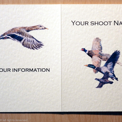 Pheasant duck and partridge shoot card