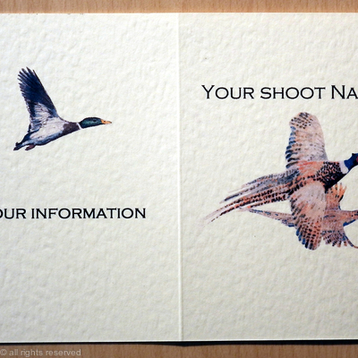 Male and female pheasant shoot card