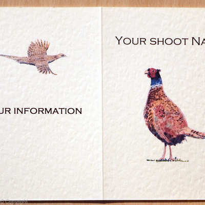 Lone standing pheasant, possible shoot card image