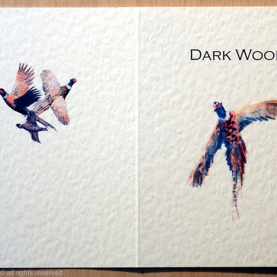Dark wood shoot card or game card
